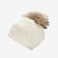 ANNABELLE NEW YORK HOLLY FUR POM POM HAT