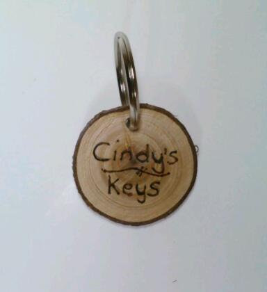 Keychain, Log Slice Keychain, Wood Slice, Rustic