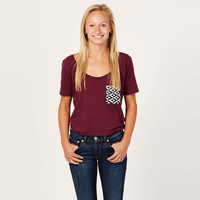 Plum Pocket Tee | TOMS