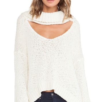 Somedays Lovin Scandal Crop Jumper in Cream