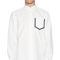 Wood Wood Dorset Button Down in White