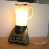 Blender Lamp - found on http://webecoist.momtastic.com/2009/03/08/reuse-recycled-lights-lamps-designs/