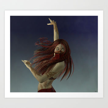 Illusive Dancer Art Print by Texnotropio
