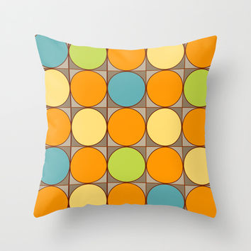 Squared Circles Throw Pillow by Texnotropio