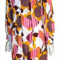 Best Abstract Print Vintage 70s Dress