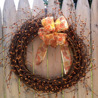 Pip Berry Wreath, Fall, Grapevine Wreath 18 Inch