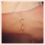 Dainty Infinity Bridesmaid Bracelet - 14k Gold-plated, 14k Rose-Gold, or Sterling Silver