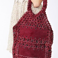 Suede Whipstitch Purse