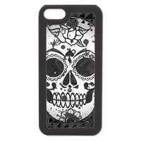 Black and white skull iPhone 5/5S Switch Case> Black and White SKULL> CrazyHome