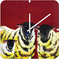 DENY Designs Home Accessories | Clara Nilles Lemon Spongecake Sheep Custom Clock