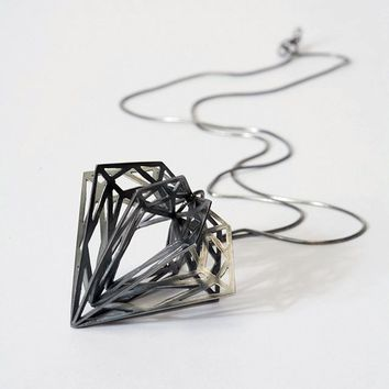 Classic Diamond Pendant by Myia Bonner