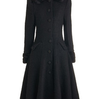 Mountain Majesty Coat in Black | Mod Retro Vintage Coats | ModCloth.com