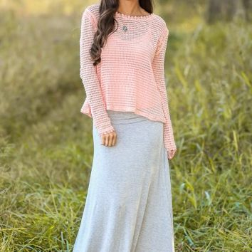 Anywhere With You Sweater-Winter Blush
