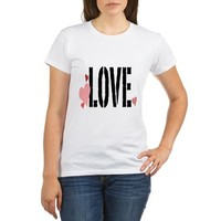 Love Heart Text Organic Women's T-Shirt> Love Heart Text> artyart