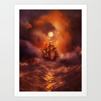Perfect storm. Art Print by Viviana Gonzalez