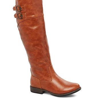 Double Buckle Gored Riding Boot