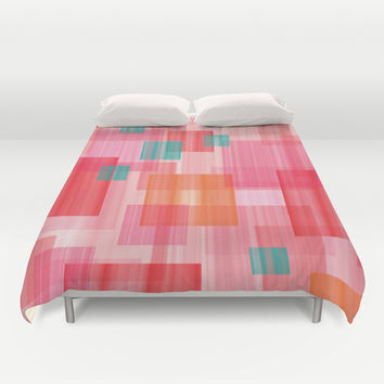 Abstract Red Duvet Cover by eDrawings38 | Society6