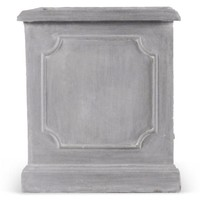 "22"" Paneled Square Planter, Gray"