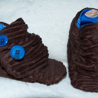 Brown slouch boots for baby boy