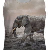 May the Stars Carry Your Sadness Away (Elephant Dreams) Womens Tank Top created by soaringanchordesigns | Print All Over Me