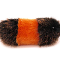 Reserved for Heather Cute Plush Toy Caterpillar Wooly Bear the Orange and Black Snuggle Worm Cuddly Faux Fur Toy Medium 6x18 Inches