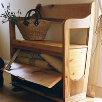 hand crafted storage bench by under the oak tree | notonthehighstreet.com