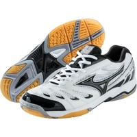 Mizuno Women's Wave Rally 5 Volleyball Shoe - White/Black | DICK'S Sporting Goods