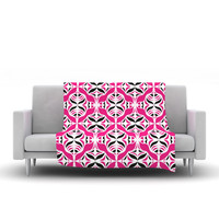 "Miranda Mol ""Think Pink"" Fleece Throw Blanket"