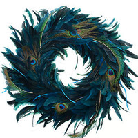 Posh Peacock Feather Wreath