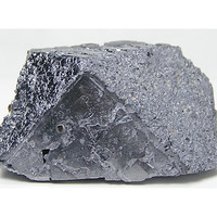 Steel Gray Metallic Fortification Galena Crystal with Chalcopyrite and Dolomite Sweetwater Mine Missouri Vintage Mineral Specimen