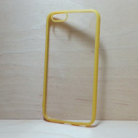 iPhone 6 (4.7 inches) Case Silicone Bumper and Clear Hard Plastic Back - Yellow