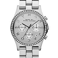 Marc by Marc Jacobs - Henry Glitz Stainless Steel Bracelet Watch/Silvertone - Saks Fifth Avenue Mobile