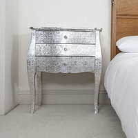 silver embossed bombay chest of drawers by the orchard | notonthehighstreet.com
