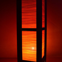 Thai Vintage lamps Orange Bamboo Blind House Lighting and Holiday Decoration
