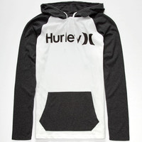 Hurley One & Only Mens Lightweight Hoodie White/Black  In Sizes
