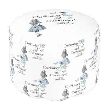 Alice in Wonderland Curiouser Butterfly Pouf Seat