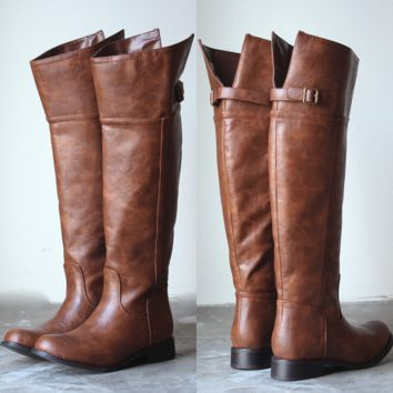 Rider's distressed tall riding boots in tan brown cognac women's fall winter boots under 100$ boot bootie shoe booties shoes walking