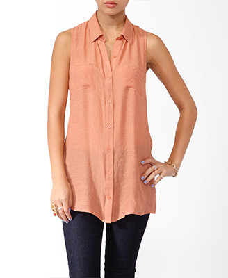 Gauzy Sleeveless Shirt