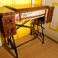 SALE Small Antique Laptop Desk or Writing Desk by OrWaDesigns