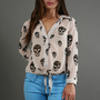 VINTAGE HAVANA SKULL PRINT TOP