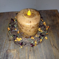 Candle, 4 inch Pillar, Vanilla Sugar Scented (LED)