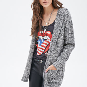 Marled Hooded Cardigan