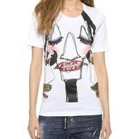 DSQUARED2 Face Graphic Tee