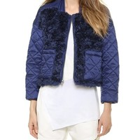 Tess Giberson Quilted Jacket with Mohair