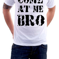 Come at me Bro jersey shore quotes gtl guido funny hilarious men's t-shirt