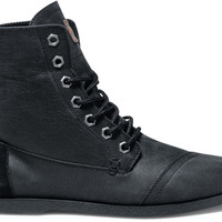 Black Aviator Twill Men's Utility Boots