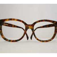 Big Gucci Very Faux Tortoise Shell Horn Rimmed Eyeglasses Frames, Hip Hop//New Wave//Director//Architect Prescription Sunglasses