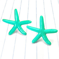 turquoise starfish earrings - starfish earrings - starfish studs - starfish jewelry - starfish - turquoise earrings - turquoise studs