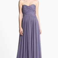 Women's Dessy Collection Strapless Ruched Chiffon