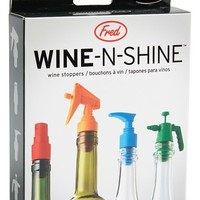 Fred & Friends 'Wine-N-Shine' Wine Stoppers (Set of 4)